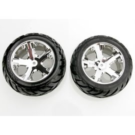 Traxxas TRA3773 2.8 Anaconda Rear Tires on All Star Chrome Wheels (2)