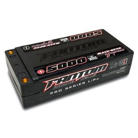 Fantom Racing FAN26056 MaxV-SPEC 5000mAh LiPo 100C Shorty, 7.4v, 5mm Bullets
