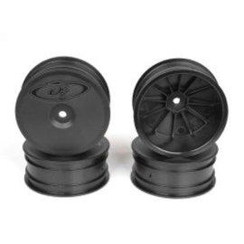 DE Racing DER-SB4-A4B Speedline Buggy Wheels, Black, Front, for B64/B64D and TLR 22 3.0/4.0 (4pcs)
