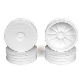 DE Racing DERSB4SAW Slim Speedline Buggy Wheels, Front, White, for ASC B6/B6D and Kyosho RB6 (4pcs)