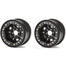 "Proline Racing PRO275815 Faultline 2.2"" Black/Black Bead-Loc 6 Lug Front or Rear Wheels (2) for Yeti"