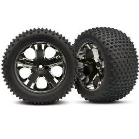 Traxxas 3770A Alias tires, All Star black chrome wheelsC RR ( 2)