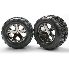 "Traxxas TRA3668A  Talon Tires on All-Star Black Chrome Wheels 2.8"" (2)"
