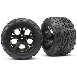 Traxxas TRA3669A 2.8 Talon Tire on All-Star Black Chrome Front (2)