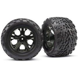 "Traxxas TRA3669A  Talon Tire on All-Star Black Chrome Front 2.8"" (2)"