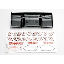 Traxxas TRA5446G  Revo E-Revo Exo-Carbon Fiber Finish Wing w/ Decals