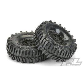"Proline Racing PRO10133-10 Interco Bogger 1.9"" G8 Tires, Mounted on Impulse Black Plastic Internal Bead-Loc Wheels"