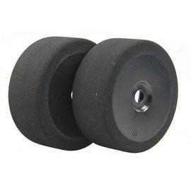 BSR BSRC8035B 1/8 35 Shore 17mm Hex Mounted GT Foam Tire On Black Dish Wheels (2)