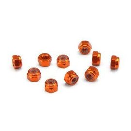 HPI HPI104120 Aluminum Thin Lock Nut M3 (Orange/10pcs)