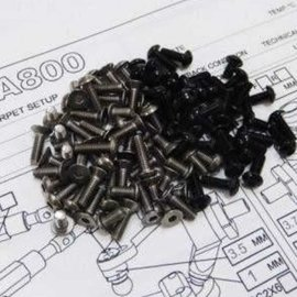 Hiro Seiko 69999  Hiro Seiko Titanium & Black Aluminum Awesomatix A800 screw kit (103)