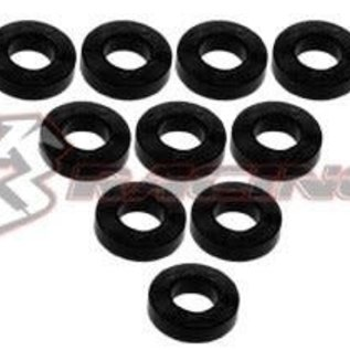 3-Racing 3RAC-WF315 Black Aluminum M3 Flat Washer 1.5mm (10)