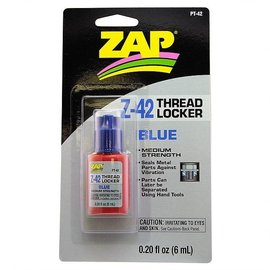 ZAP PAAPT-42  Zap Z-42 Blue Thread Locker 0.2oz Bottle