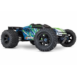 Traxxas TRA86086-4  Green E-Revo VXL Brushless 1/10 Scale 4WD Monster Truck with TQi 2.4GHz TSM