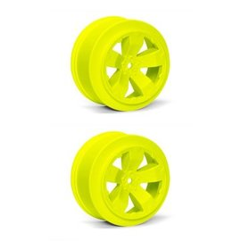 Avid RC AV1100-Y  Yellow Sabertooth T6.1 or SC10 +3mm Short Course Wheel (2)