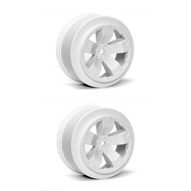 Avid RC AV1100-W  White Sabertooth T6.1 or SC10 +3mm Short Course Wheel (2)