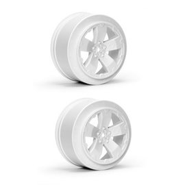 Avid RC AV1101-W  White Sabertooth Losi-SCTE or 22SCT Short Course Wheel (2)