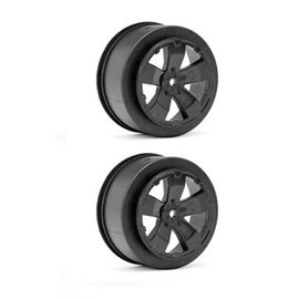 Avid RC AV1101-B  Black Sabertooth Losi-SCTE or 22SCT Short Course Wheel (2)