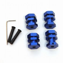STRC SPTST3654-17B Blue Machined Aluminum 17mm Hex Conversion Kit Traxxas 2wd