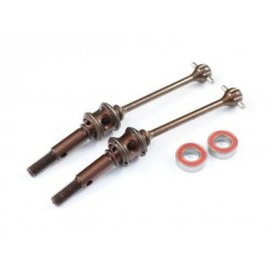 Radtec XR-10005 T4 50mm Premium Steel Double Joint Drive Shaft Set