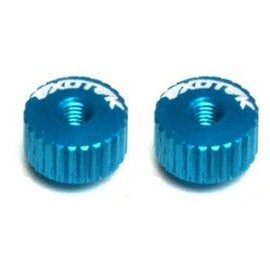 Exotek Racing EXO1191LB Twist Nuts For M3 Thread, Light Blue