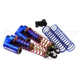 Integy T7964BLUE MSR9 Rear Piggyback Shocks for 1/10 Stampede 2WD, Rustler, Slash 2WD (L=102mm)