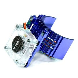 Integy T8074BLUE Motor Heatsink 540 Size w/ Cooling Fan for Slash, Stampede 2WD, Rustler & Bandit