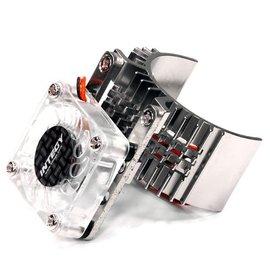 Integy T8074SILVER Motor Heatsink 540 Size w/ Cooling Fan for Slash, Stampede 2WD, Rustler & Bandit