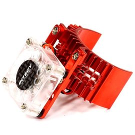 Integy T8074RED Motor Heatsink 540 Size w/ Cooling Fan for Slash, Stampede 2WD, Rustler & Bandit