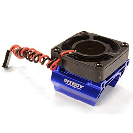 Integy C25861BLUE High Speed Cooling Fan+Heatsink Mount for 28mm O.D. Motor