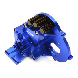 Integy C28196BLUE Alloy Gearbox Housing for Traxxas 1/10 Stampede 2WD, Rustler, Bandit & Bigfoot