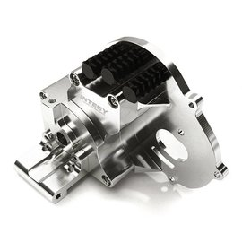 Integy C28196SILVER Alloy Gearbox Housing for Traxxas 1/10 Stampede 2WD, Rustler, Bandit & Bigfoot