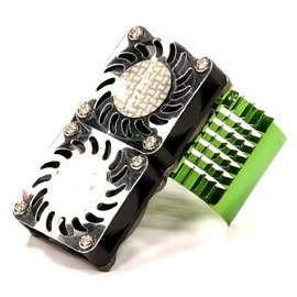 Integy C23137GREEN Green Motor Heatsink+Twin 40MM Cooling Fan