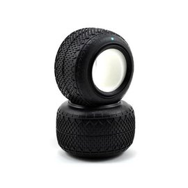 """J Concepts JCO3021-02  Green Bar Codes 2.2"""" Truck Tires"""