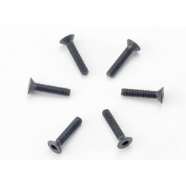 Traxxas TRA2526   2.5x12mm Countersunk Machine Screws (Hex) (6)