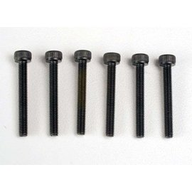 Traxxas TRA2556   Header screws, 3x23mm cap hex screws (6)