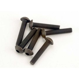 Traxxas TRA2579  Screws, 3x15mm button-head machine (hex drive) (6)