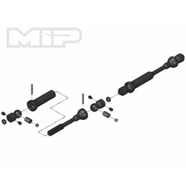 MIP MIP18120  X-Duty Center Drive Kit, 110mm x 135mm w/ 5mm Hubs, for Axial SCX10 Deadbolt