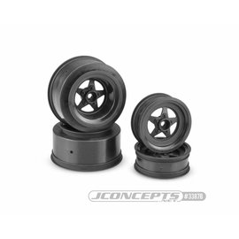 "J Concepts JCO3387B  Startec Street Eliminator Front 2.2"" and Rear 2.2 x 3.0"" Wheel Set (Black)"
