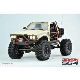 CROSS CZRSG4C  SG4C Demon 4x4 Crawler Kit, w/ Hard Body and CNC Gears, 1/10 Scale