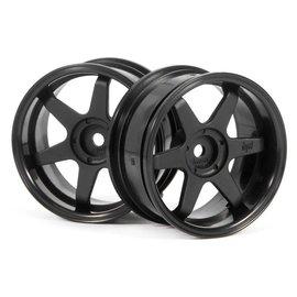 HPI HPI3846 TE37 Wheels, 26mm-6mm Offset, Black, Fits 26mm Tire
