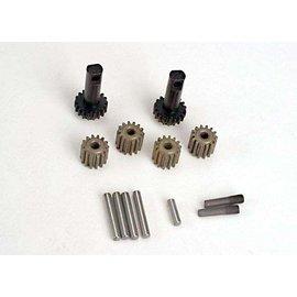 Traxxas TRA2382  all hardened steel Planet gears (4), planet shafts (4), sun gears (2) & sun gear alignment shaft (1)