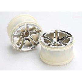 Traxxas TRA5572  Chrome 2.8' Twin-Spoke Wheels (2)