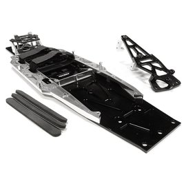 Integy C26146SILVER  Billet Machined Complete LCG Chassis Conv. Kit for Traxxas Slash 2wd