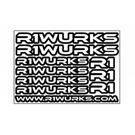 R1wurks R1-STKR-SHT  R1 Sticker Sheet