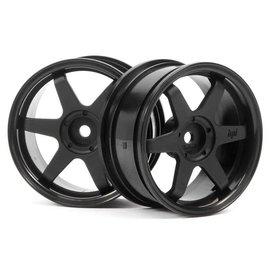 HPI HPI3841  26mm TE37 Touring Car Wheel (Black) (2pc) (3mm Offset)