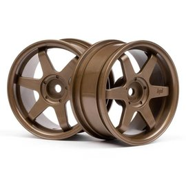 HPI HPI3843  26mm TE37 Touring Car Wheel (Bronze) (2pc) (3mm Offset)