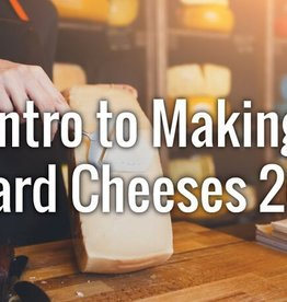 Intro to Hard Cheeses Saturday 9 AM - Noon  3/16/19