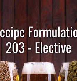Recipe Formulation Sat 10 AM - Noon  2/23/19