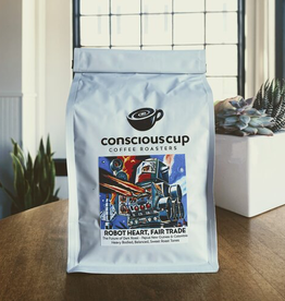 Coffee Conscious Cup Robot Heart