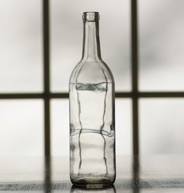 Wine 750 ml Clear Flint Claret Bottles Case/12